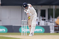 Defensive stroke from Yorkshire Batsman Joe Root  during the Specsavers County Champ Div 1 match between Yorkshire County Cricket Club and Surrey County Cricket Club at Headingley Stadium, Headingley, United Kingdom on 10 May 2016. Photo by Simon Davies.