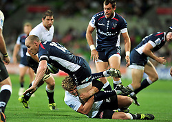Rebels Captain, Striling Mortlock.Melbourne Rebels v The Sharks.Rugby Union - 2011 Super Rugby.AAMI Park, Melbourne VIC Australia.Friday, 11 March 2011.© Sport the library / Jeff Crow