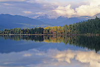Autumn colors are reflected in Alta Lake, Whistler, BC