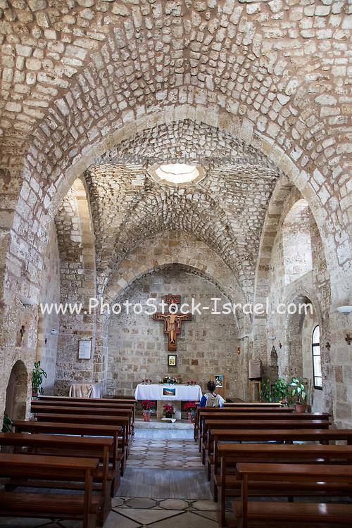 Interior of the Saint John's Church in Akko (Acre), Israel