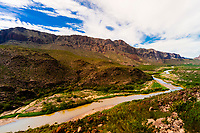 The Camino del Rio (along the Rio Grande River, which is the border of the USA and Mexico. Mexico is on the left), Big Bend Ranch State Park, Texas USA.