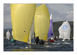 Sailing - The 2007 Bell Lawrie Scottish Series hosted by the Clyde Cruising Club, Tarbert, Loch Fyne..Day 2 racing with light to medium winds from the North west..Sportsboat class 2 SB3 Taku GBR3278.