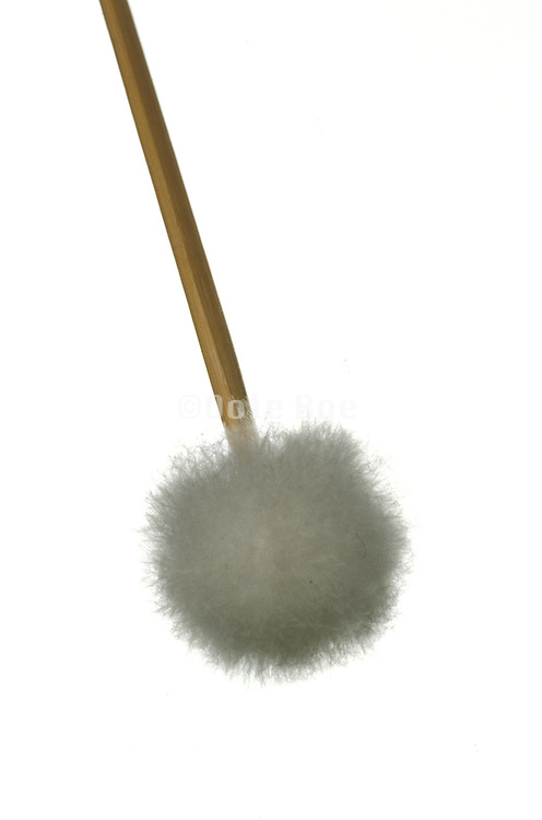 Abstract still life of stick with a fuzzy ball