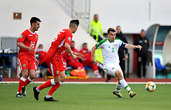 Republic of Ireland's Seamus Coleman (right) in action during the UEFA Euro 2020 Qualifying, Group D match at the Victoria Stadium, Gibraltar.
