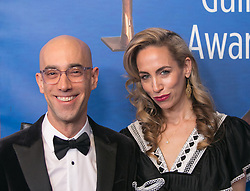 February 17, 2019 - Beverly Hills, California, U.S - Mitch Silpa and guest in the red carpet of the 2019 Writers Guild Awards at the Beverly Hilton Hotel on Sunday February 17, 2019 in Beverly Hills, California. ARIANA RUIZ/PI (Credit Image: © Prensa Internacional via ZUMA Wire)
