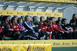 15.10.2011,  BorussiaPark, Mönchengladbach, GER, 1.FBL, Borussia Mönchengladbach vs Bayer 04 Leverkusen, im Bild.Robin Dutt (Trainer Leverkusen) (R) und Michael Ballack (Leverkusen #13) hatten sich bei der Auswechslung nichts zu sagen..// during the 1.FBL, Borussia Mönchengladbach vs Bayer 04 Leverkusen on 2011/10/13, BorussiaPark, Mönchengladbach, Germany. EXPA Pictures © 2011, PhotoCredit: EXPA/ nph/  Mueller *** Local Caption ***       ****** out of GER / CRO  / BEL ******