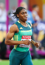 London, August 10 2017 . Caster Semenya, South Africa, in the women's 800m heats on day seven of the IAAF London 2017 world Championships at the London Stadium. © Paul Davey.