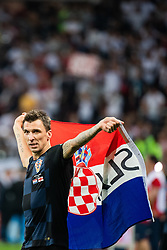 July 11, 2018 - Moscow, Russia - 180711 Mario Mandzukic of Croatia celebrate after winning the FIFA World Cup semi final match between Croatia and England on July 11, 2018 in Moscow..Photo: Petter Arvidson / BILDBYRÃ…N / kod PA / 92085 (Credit Image: © Petter Arvidson/Bildbyran via ZUMA Press)