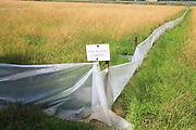 Ecological survey in progress sign, Sutton, Suffolk, England, UK