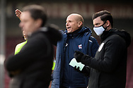 Scunthorpe United manager Neil Cox pointing, directing, signalling, gesture during the EFL Sky Bet League 2 match between Scunthorpe United and Grimsby Town FC at the Sands Venue Stadium, Scunthorpe, England on 23 January 2021.