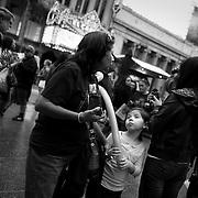 Girl with balloon, Hollywood.