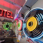 Neon signs at Absolutely Neon studio on Central Avenue in Albuquerque, New Mexico