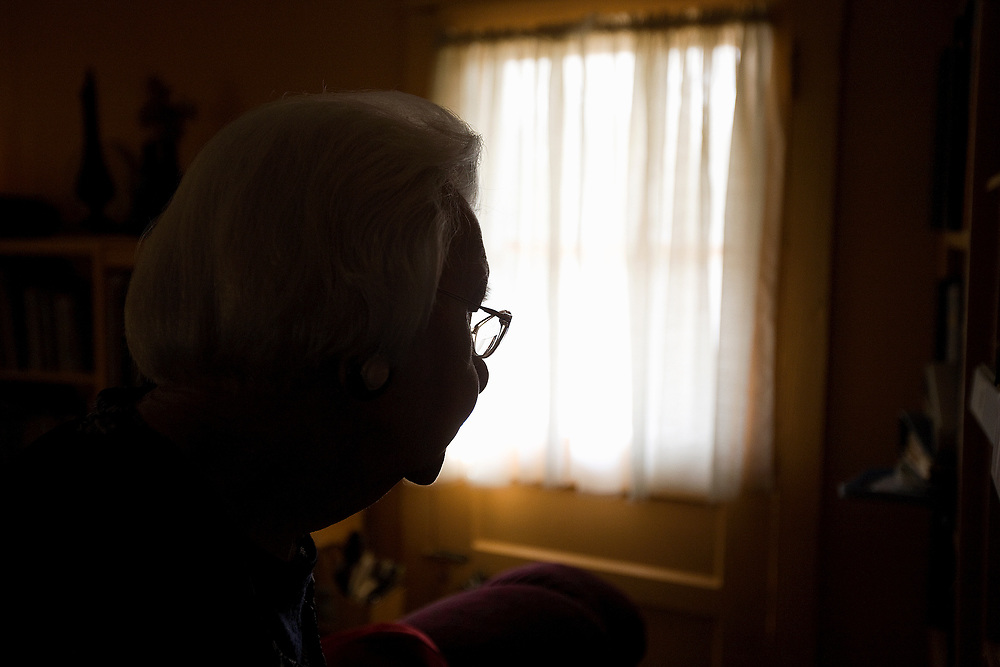 Since her husband's death, Carrie LeNoir, 92, lives alone. She lives next door to her family's general store.