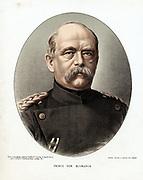 Otto von Bismarck (1815-98) German (Prussian) statesman. Tinted lithograph London c1880