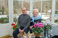 Couple in greenhouse for Corporate Annual Report