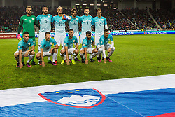 Slovenian national team during football match between National teams of Slovenia and England in Round #3 of FIFA World Cup Russia 2018 qualifications in Group F, on October 11, 2016 in SRC Stozice, Ljubljana, Slovenia. Photo by Grega Valancic / Sportida