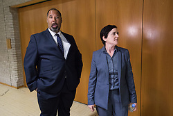 © Licensed to London News Pictures . 29/09/2017 . Torquay , UK . DAVID KURTEN and ANNE-MARIE WATERS arrives at the UK Independence Party Conference at the Riviera International Centre . UKIP is due to announce the winner of a leadership election which has the potential to split the party . Photo credit: Joel Goodman/LNP
