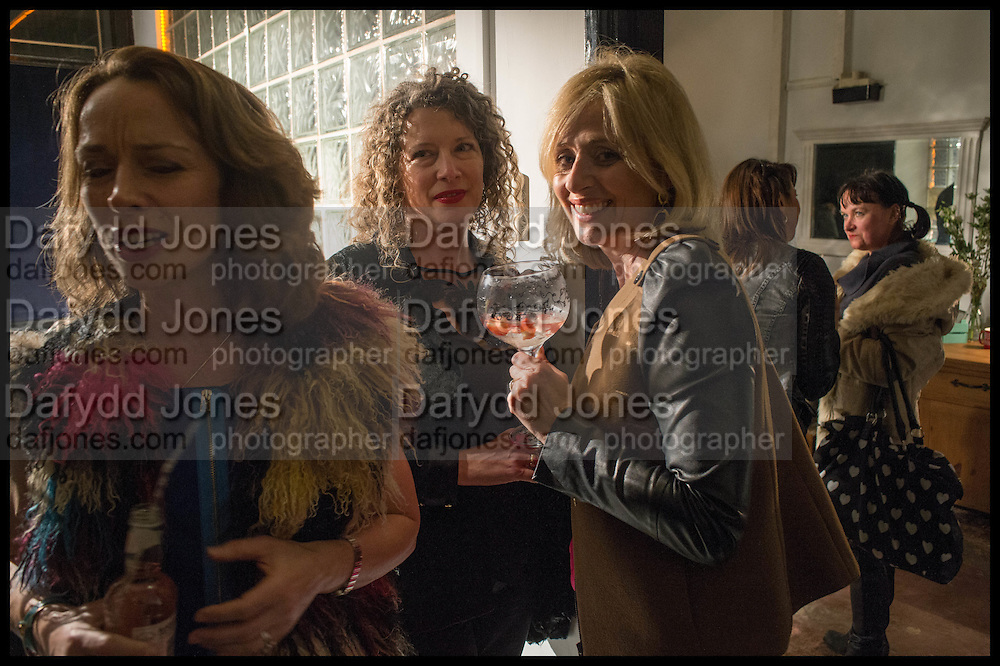 RADIO GEORGEOUS; AMANDA RUIZ; DONNA FREED; JOSEPHINE PEMBROKE, Opening of the Trouble Club., Lexington St. Soho London. 6 November 2014