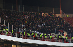 December 5, 2017 - Lisbon, Lisbon, Portugal - Fc Basel supporters celebrating at the end of the match during the match between SL Benfica v FC Basel UEFA Champions League playoff match at Luz Stadium on December 5, 2017 in Lisbon, Portugal. (Credit Image: © Dpi/NurPhoto via ZUMA Press)