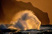 Surf on Na Pali Coast - Kauai