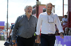 Yeovil Town's Manager Paul Sturrock and Exeter City's Manager Paul Tisdale - Photo mandatory by-line: Harry Trump/JMP - Mobile: 07966 386802 - 08/08/15 - SPORT - FOOTBALL - Sky Bet League Two - Exeter City v Yeovil Town - St James Park, Exeter, England.