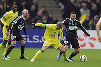 Vincent BESSAT / Steed MALBRANQUE  - 20.01.2015 - Nantes / Lyon  - Coupe de France 2014/2015<br />Photo : Vincent Michel / Icon Sport