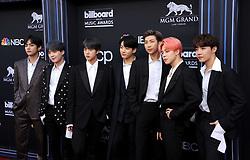 J-Hope, V, Jungkook, Jimin, Suga, Jin and RM of BTS at the 2019 Billboard Music Awards held at the MGM Grand Garden Arena in Las Vegas, USA on May 1, 2019.