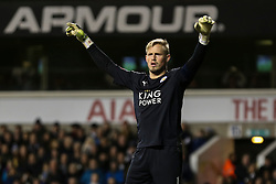 Kasper Schmeichel of Leicester City - Mandatory byline: Jason Brown/JMP - 07966386802 - 10/01/2016 - FOOTBALL - White Hart Lane - London, England - Tottenham v Leicester City - The Emirates FA Cup