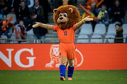 mascotte Dutchy during the EURO U21 2017 qualifying match between Netherlands U21 and Latvia U21 at the Vijverberg stadium on October 06, 2017 in Doetinchem, The Netherlands