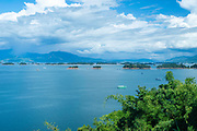 Photograph of Nam Ngum reservoir, in central Laos.