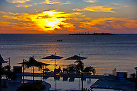 Sunset, Royal Terra Beach Resort Hotel, Noumea, Grand Terre, New Caledonia
