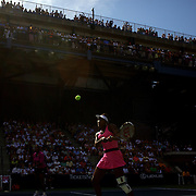 Venus Williams,  (pictured) and Sister Serena Williams, USA, playing in the Women's doubles event against Goerges and Parra Santonja during the US Open Tennis Tournament at Flushing Meadows, New York, USA, on Thursday September 3, 2009. Photo Tim Clayton..