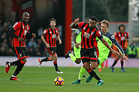 Football - 2016 / 2017 Premier League - AFC Bournemouth vs. Liverpool<br /> <br /> Bournemouth's Callum Wilson turns Lucas Leiva of Liverpool to set up another attack at Dean Court (The Vitality Stadium) Bournemouth<br /> <br /> COLORSPORT/SHAUN BOGGUST