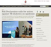 2015 11 04 Tearsheet World Diabetes Foundation summit Indonesia