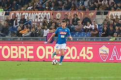 October 14, 2017 - Rome, Italy - Jorginho  during the Italian Serie A football match between A.S. Roma and S.S.C. Napoli at the Olympic Stadium in Rome, on october 14, 2017. (Credit Image: © Silvia Lor/Pacific Press via ZUMA Wire)