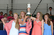 Henley on Thames. United Kingdom. GBR W4X.  Polly SWANN, Vicky MAYER-LAKER, Frances HOUGHTON and Helen GLOVER. with the Princess Grace Challenge Cup.  2013 Henley Royal Regatta, Henley Reach. 17:04:04  Sunday  07/07/2013  [Mandatory Credit; Peter Spurrier/ Intersport Images]