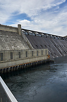 Grand Coulee Dam Panorama. Composite 1 of 7 images taken with a Nikon D700 camera and 35 mm f/1.4 mm lens (ISO 200, 18 mm, f/11, 1/1000 sec). Raw images processed with Capture One Pro and the panorama created using AutoPano Pro.
