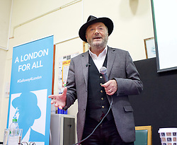 George Galloway <br /> speaking at the Tooting Neighbourhood Centre, Tooting Bec, London, Great Britain <br /> 18th August 2015 <br /> <br /> George Galloway is a candidate in the 2016 Mayor of London election and an ex-MP for Bradford West and Bethnal Green & Bow. <br /> <br /> <br /> Photograph by Elliott Franks <br /> Image licensed to Elliott Franks Photography Services