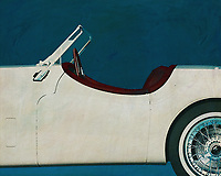 The Jaguar XK type exudes so much class that you'd like to be sent back to the last century. This detail painting will take it to your interior and will have a lot of attention. –<br />