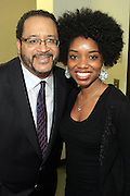 May 7, 2012- New York, NY United States: - (L-R) Dr. Michael Eric Dyson and Actress Markita Prescott attend the post reception of Theater Talks at the Schomburg: A Streetcar Named Desire held at the Schomburg Center for Research in Black Culture, part of the New York Public Library on May 7, 2012 in Harlem Village, New York City. The Schomburg Center for Research in Black Culture, a research unit of The New York Public Library, is generally recognized as one of the leading institutions of its kind in the world. For over 80 years the Center has collected, preserved, and provided access to materials documenting black life, and promoted the study and interpretation of the history and culture of peoples of African descent. (Photo by Terrence Jennings) .