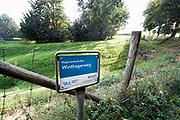 Nederland, voerendaal, 16-9-2020  Voorziening van het waterschap limburg om regenwater op te vangen tijdens noodweer en hoosbuien .Foto: ANP/ Hollandse Hoogte/ Flip Franssen