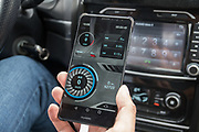 Interactive mobile telephone application solving issue flagged up on car dashboard. Once a warning sign appeared flashing in the car, the driver stopped, linked his software to the car computer and diagnosed and solved the problem that had been flagged.