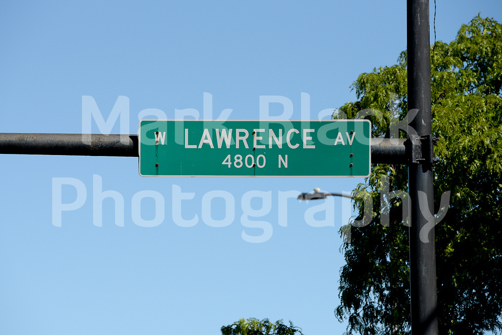 Lawrence Avenue street sign in Lincoln Square neighborhood of in Chicago on Friday, Sept. 4, 2020. Photo by Mark Black
