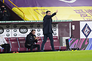 MK Dons manager Russell Martin during the FA Cup match between Burnley and Milton Keynes Dons at Turf Moor, Burnley, England on 9 January 2021.