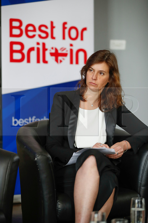 """© Licensed to London News Pictures. 26/04/2017. London, UK. Campaign Director of Best for Britain, Eloise Todd,  attends the Launch of the Best for Britain initiative. Mrs Miller's campaign aims to endorse various candidates in the general election who support it's proposal for a """"meaningful"""" vote by MPs at the end of the UK's EU Brexit negotiations. Photo credit: Peter Macdiarmid/LNP"""