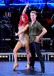 Dianne Buswell and AJ Pritchard attending the Strictly Come Dancing Professionals UK Tour at Elstree Studios, London.