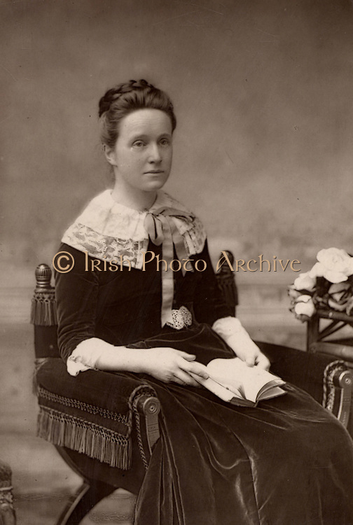 Millicent Fawcett (born Garrett - 1947-1929) English feminist, for 50 years a leader of the movement for women's suffrage.  Sister of the pioneer woman physician Elizabeth Garrett Anderson; wife of Henry Fawcett, the blind radical politician.  From 'The Cabinet Portrait Gallery' (London, 1890-1894).  Woodburytype after photograph by W & D Downey.