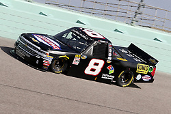 November 16, 2018 - Homestead, FL, U.S. - HOMESTEAD, FL - NOVEMBER 16: John Hunter Nemechek, driver of the Fleetwing Corporation Chevrolet, during practice for the NASCAR Camping World Series playoff race, the Ford EcoBoost 200 on November, 16, 2018, at Homestead - Miami Speedway in Homestead, FL. (Photo by Malcolm Hope/Icon Sportswire) (Credit Image: © Malcolm Hope/Icon SMI via ZUMA Press)