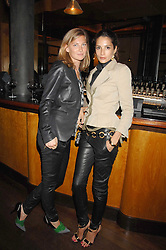 Left to right, ELIZABETH VON GUTTMAN and ASTRID MUNOZ at a party to celebrate the launch of Cavalli Selection - the first ever wine from Casa Cavalli, held at 17 Berkeley Street, London W1 on 29th May 2008.<br /><br />NON EXCLUSIVE - WORLD RIGHTS