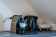Nespresso coffee machine in a kitchen